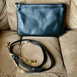 Sandro Addict leather double sac crossbody